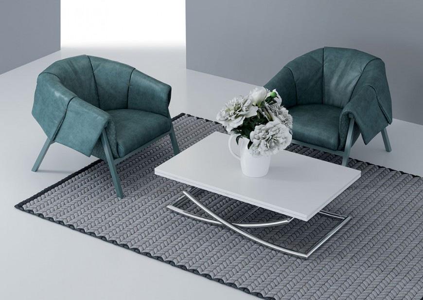 Petite table basse relevable extensible