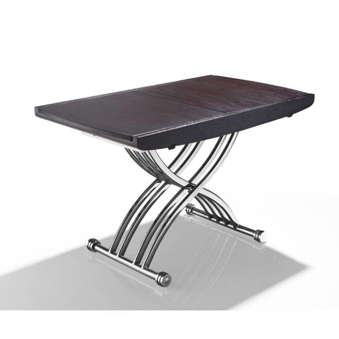 Table basse relevable et extensible wengé ninon