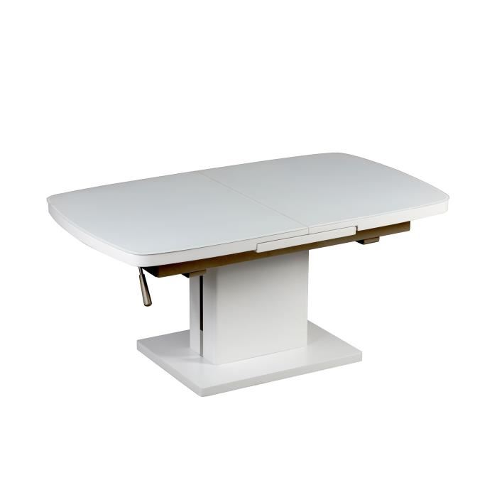 Table basse relevable piston