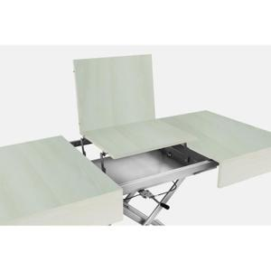 Table basse relevable extensible blanc domy