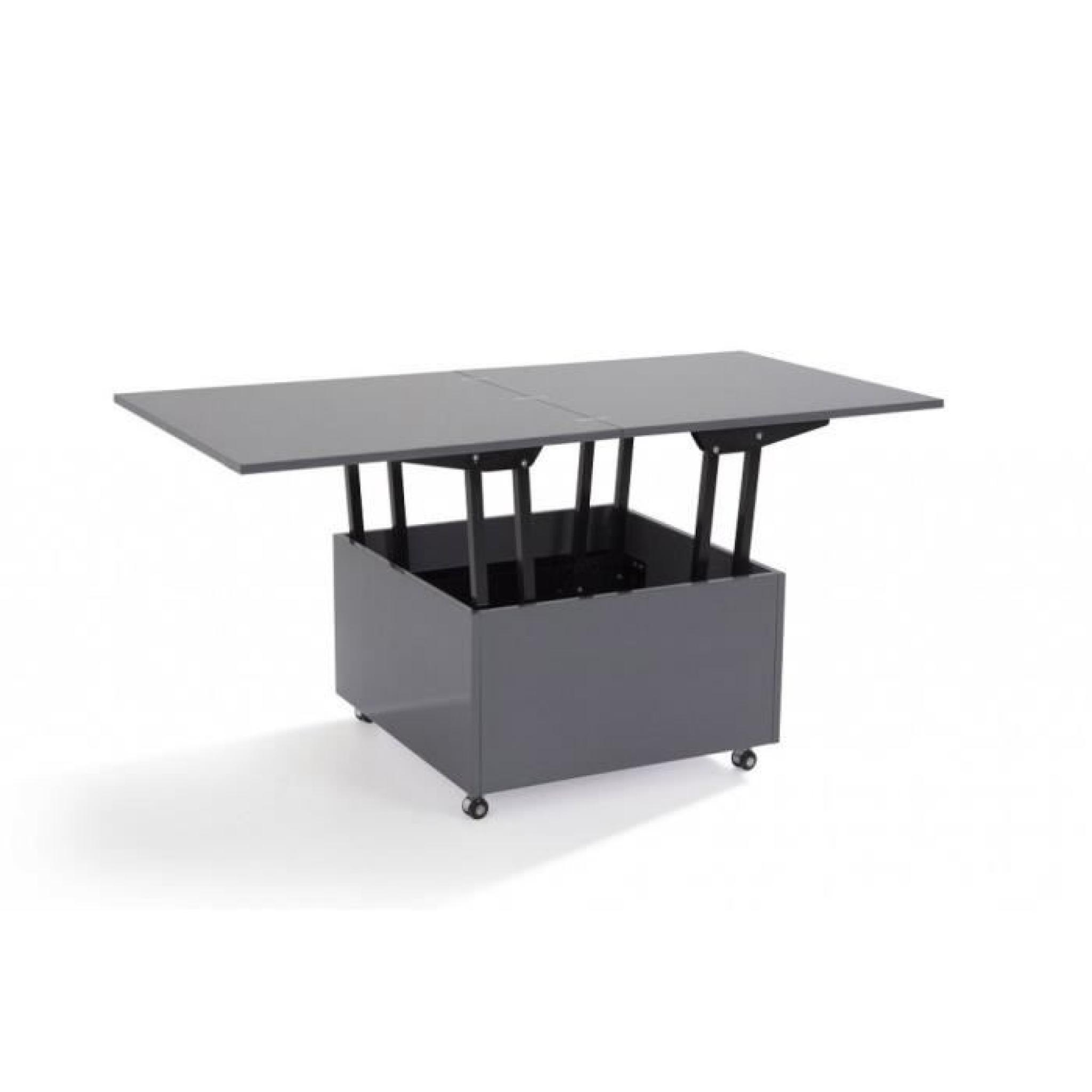 Table basse relevable blanche cdiscount