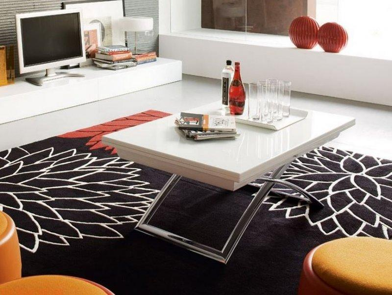 Table basse relevable extensible calligaris