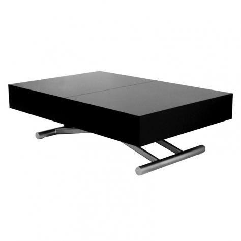 Table basse extensible relevable avec rallonge