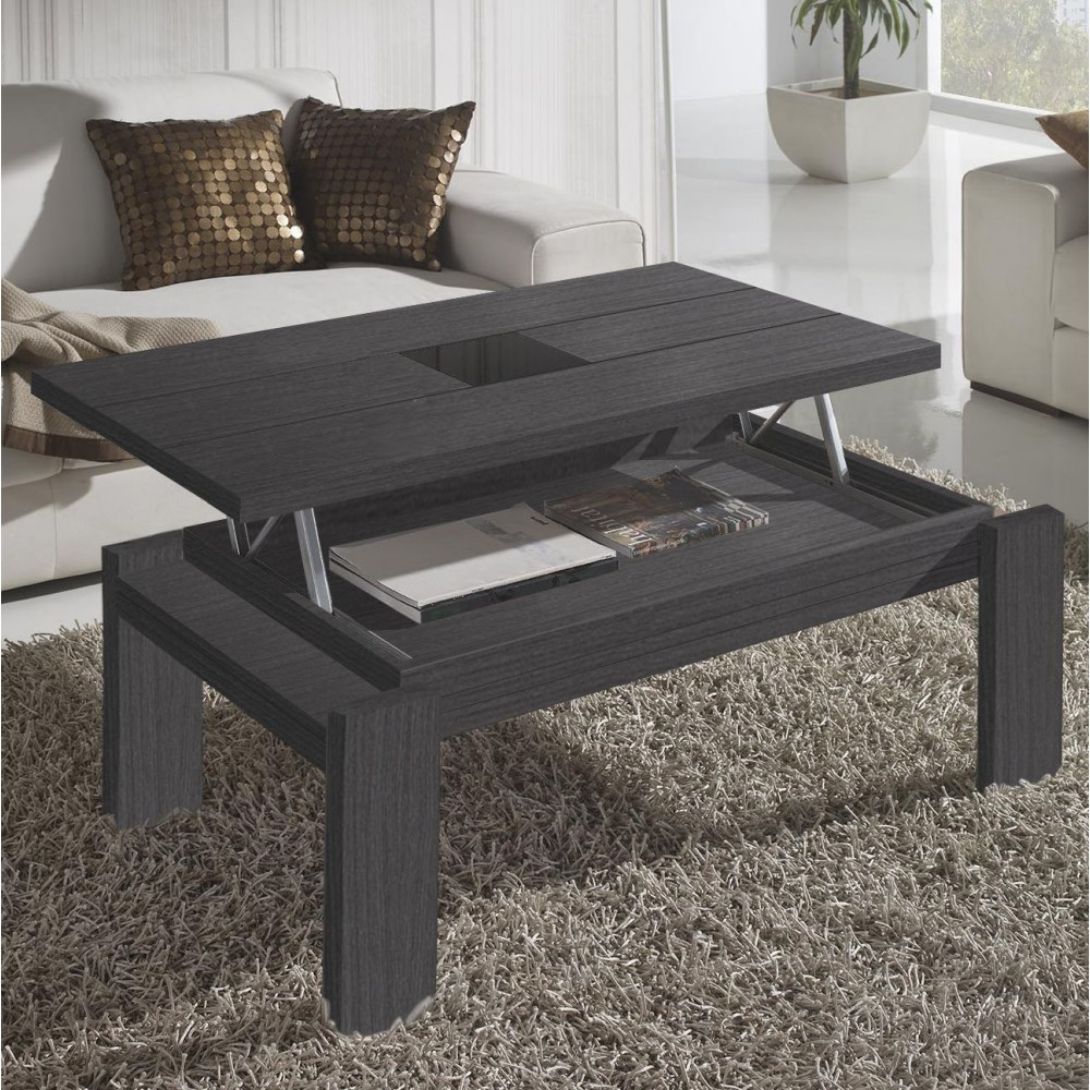 Table basse design relevable verre