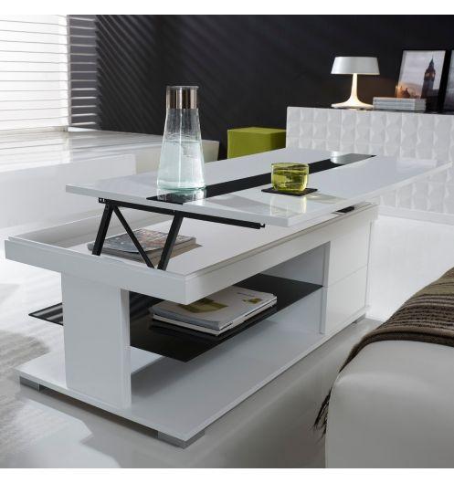 Table basse relevable coffre