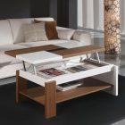 Table basse en bois plateau relevable