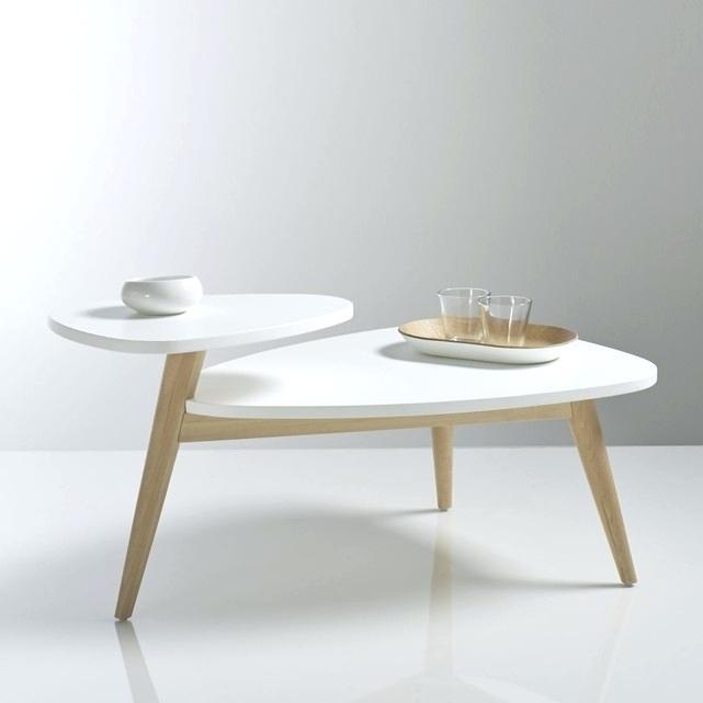 Table basse double plateau scandinave