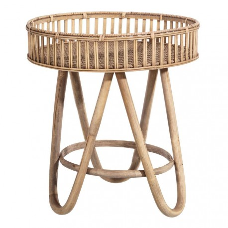 Table basse ronde bambou
