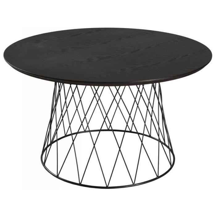 Table basse ronde pied metal