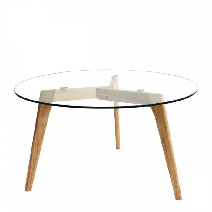 Table basse bois et verre island