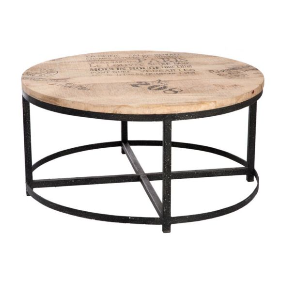 Table basse bois ronde 90 cm