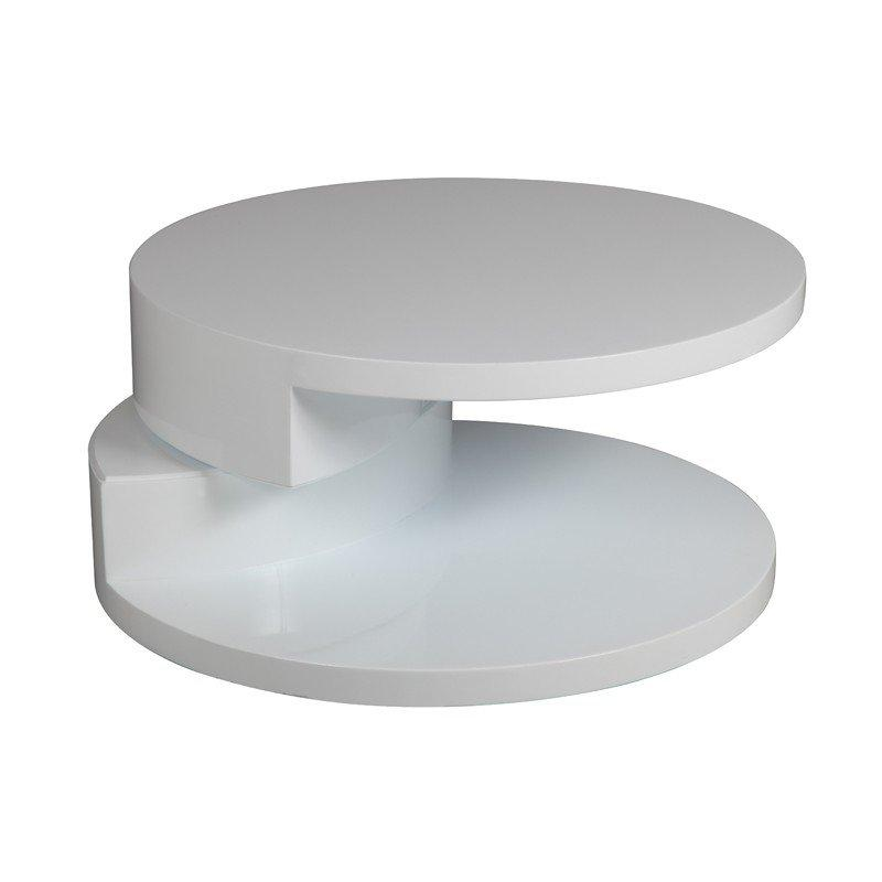 Table basse ronde tournante