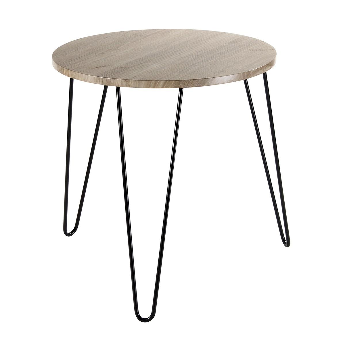 Table basse bois pied metal