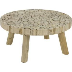 Table basse bois rondin