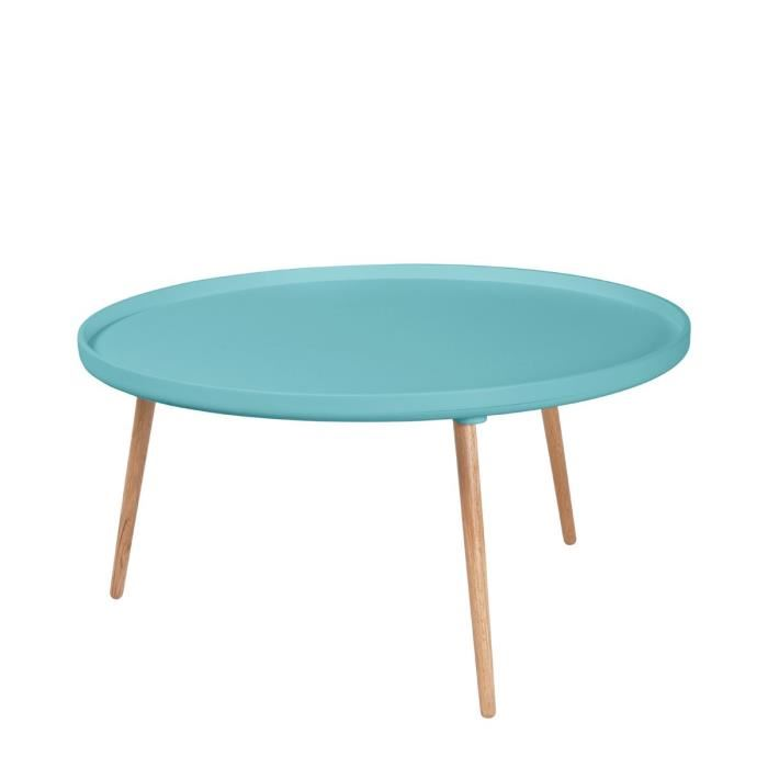 Table basse bleu scandinave