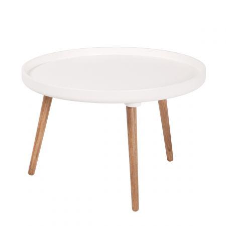 Table basse ovale design scandinave skoll drawer