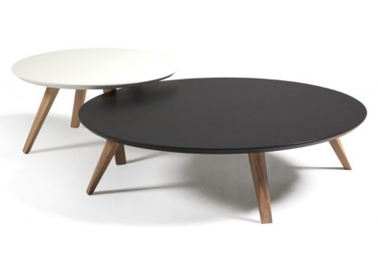 Table basse ronde bois gigogne