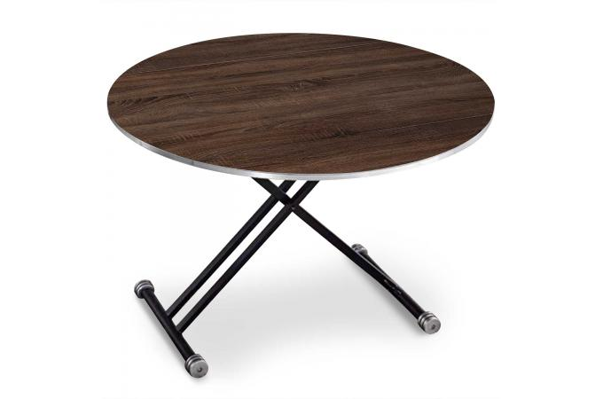 Table basse ronde réglable en hauteur