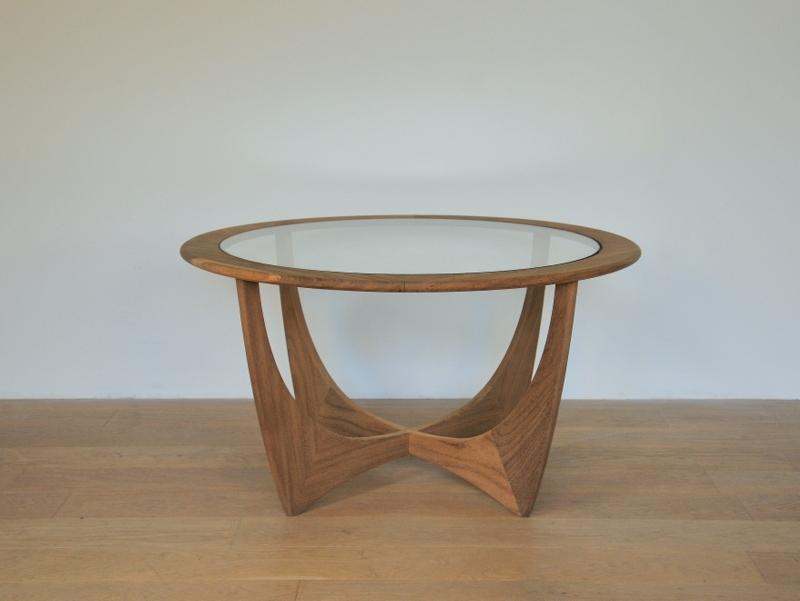 Table basse bois scandinave vintage