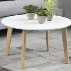 Table basse blanche style scandinave