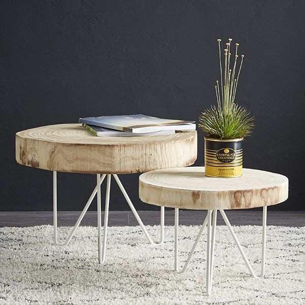 Rondin bois table basse