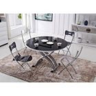 Table basse ronde relevable extensible rondo