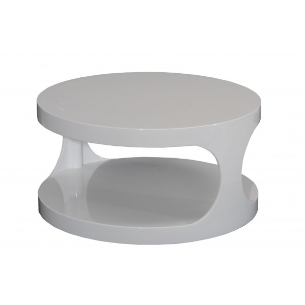 Table basse relevable ilona laquee rouge