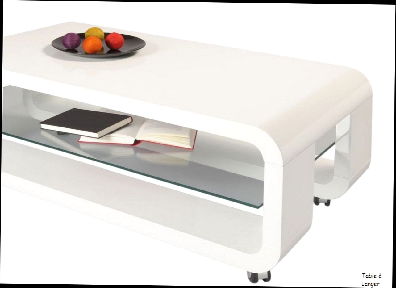 Table basse roulettes relevable