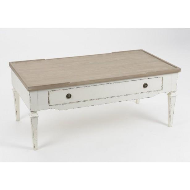 Table basse rectangulaire bois vieilli