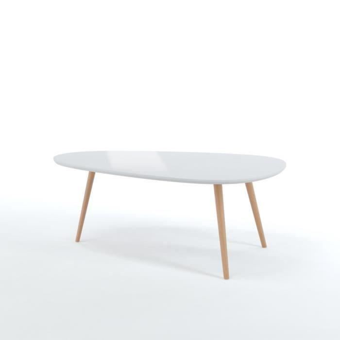 Table basse scandinave forme
