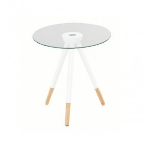 Table basse scandinave bois et verre
