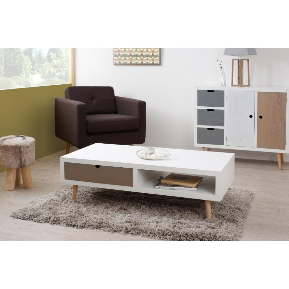 Table basse scandinave 120 cm