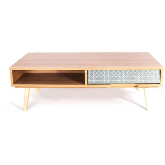 Table basse tiroir scandinave