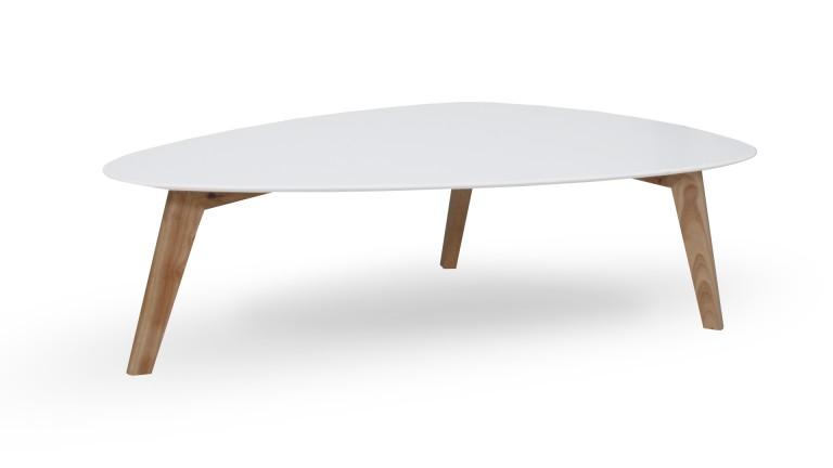 Table basse scandinave bois metal