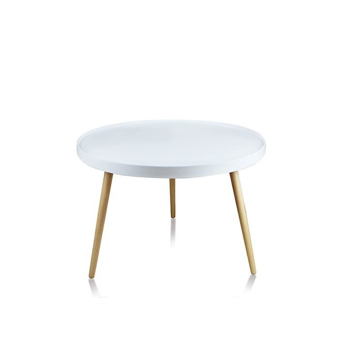 Table basse scandinave ronde pas chere