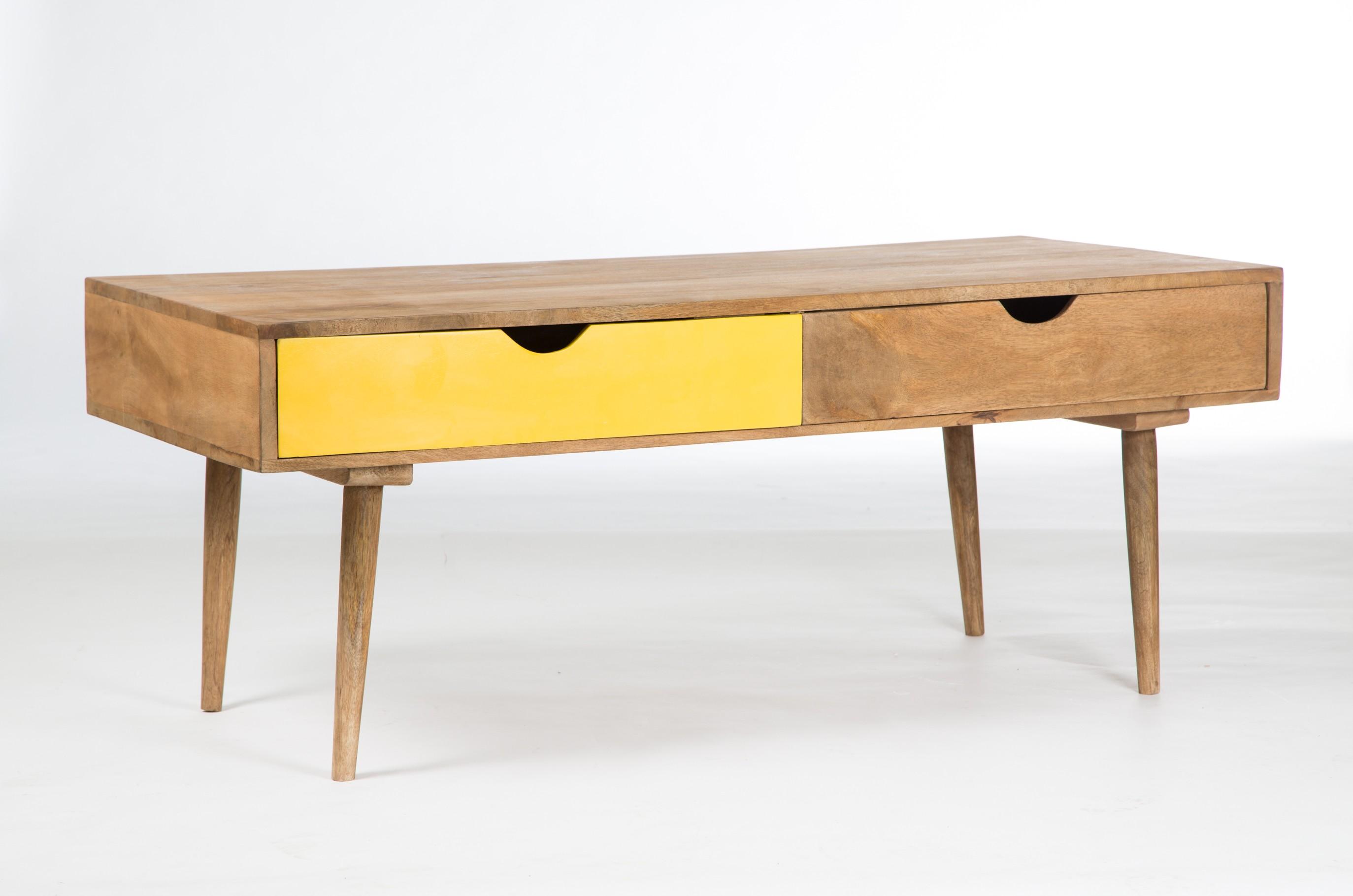 Table basse bois clair scandinave