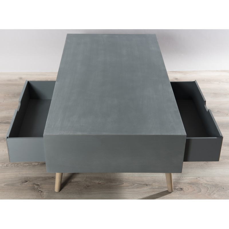 Table basse scandinave effet beton
