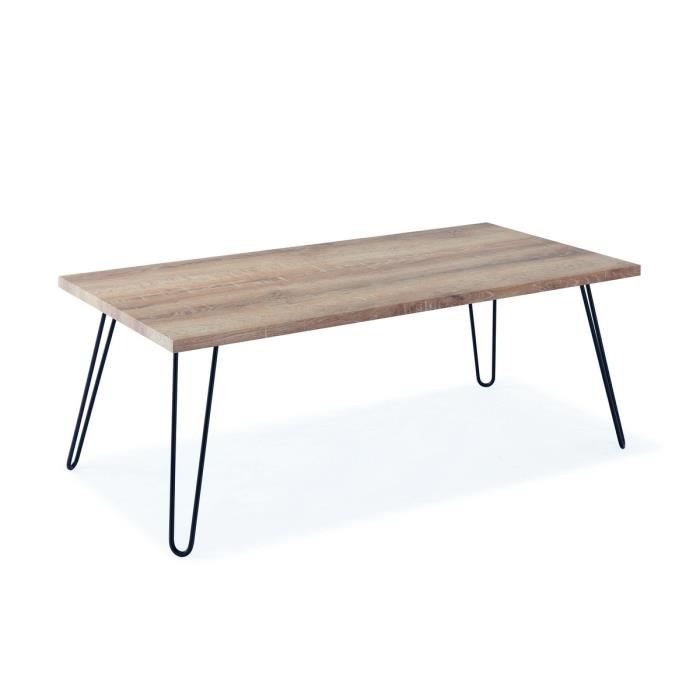 Table basse metal scandinave