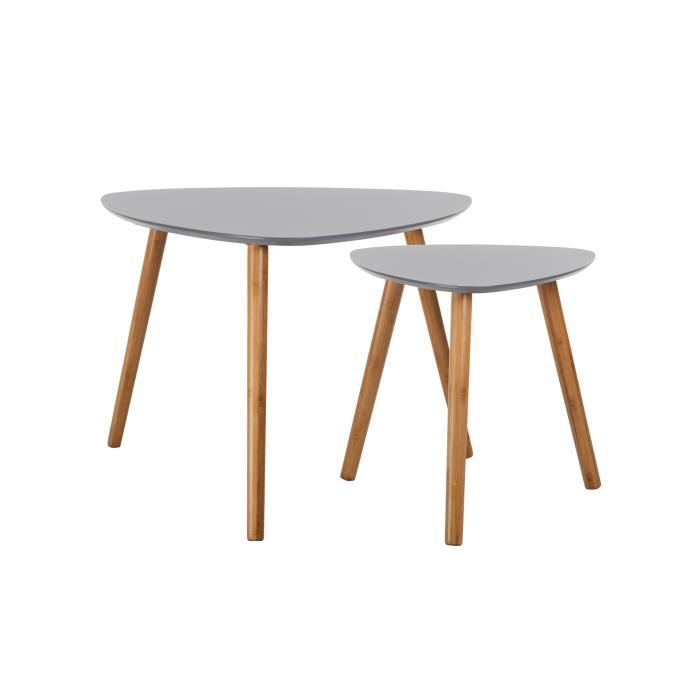 Table basse scandinave blanc et gris