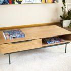 Table basse bois scandinave