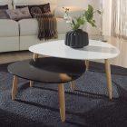 Table basse scandinave noir et blanc