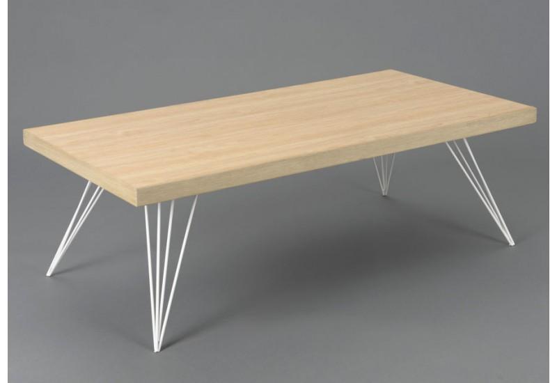 Table basse scandinave avec coffre