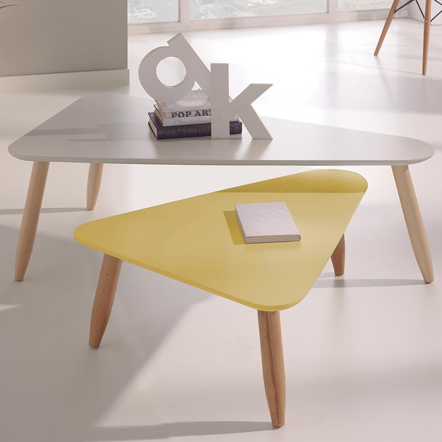 Petite table basse scandinave jaune