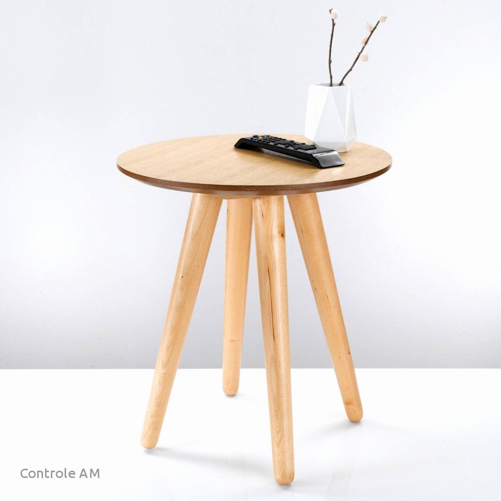 Alinea siwa table basse vintage scandinave blanche 80cm