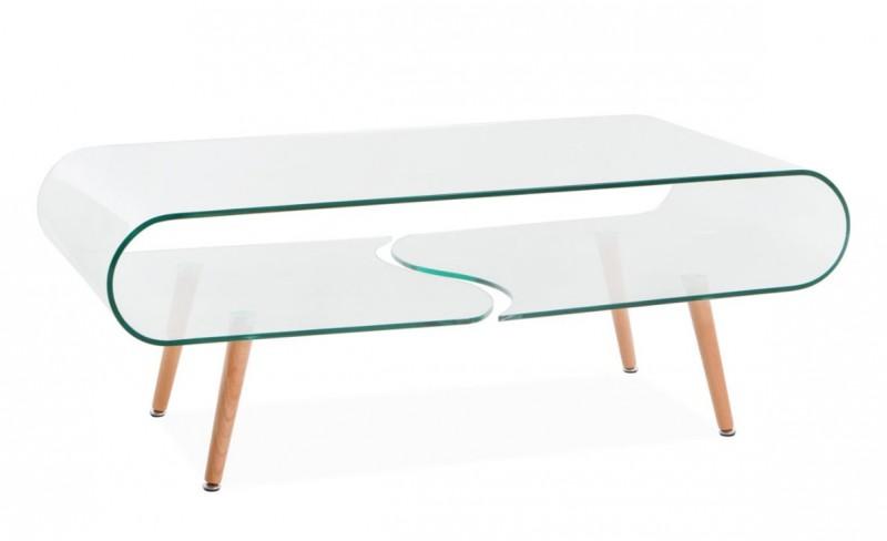 Table basse scandinave transparente