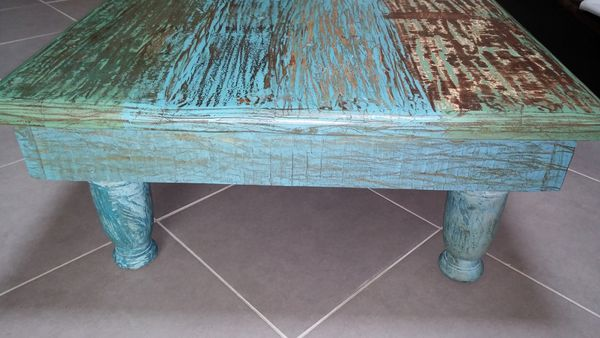 Table basse indienne bois