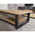 Table basse industriel bois acier