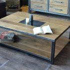 Table basse style industriel conforama