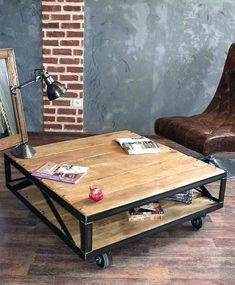 Table basse style industriel but