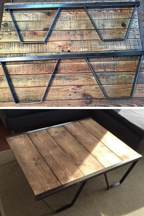 Table basse en palette achat